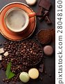 Coffee cup and beans 28048160