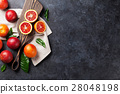 Fresh red orange fruits 28048198