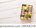 Colorful macaroons in a gift box 28048249