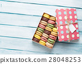 Colorful macaroons in a gift box 28048253