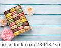 Colorful macaroons in a box 28048256