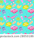 Seamless pattern travel elements in patch style. 28050186