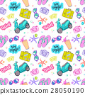 Seamless pattern travel elements in patch style. 28050190
