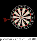 Darts and arrows 3d illustration 28050308