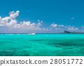 Turquoise sea water perfect blue sky. Travel backg 28051772
