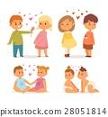 Couple in love vector set. 28051814