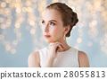 woman, diamond, earring 28055813