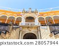 Bullfight arena, plaza de toros in Seville 28057944
