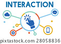 Interaction Connection Community Social Network Concept 28058836