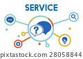Communication Service Help Desk Concept/ 28058844