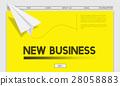 Paper Rocket Startup Business Concept 28058883