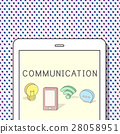 Internet Networking Connection Communication Icon Concept 28058951