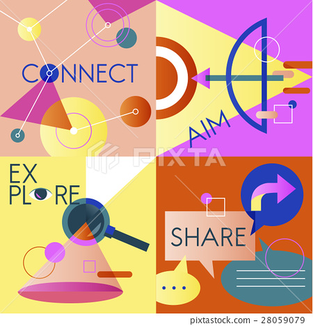 Icon Business Vector Set Colorful 28059079