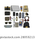 Illustration Drawing Travel Pack Collection 28059213