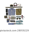 Illustration Drawing Travel Pack Collection 28059229