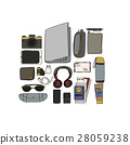 Illustration Drawing Travel Pack Collection 28059238