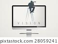 Monitor Screen Vision Word Vector Concept 28059241
