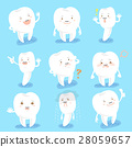 cartoon tooth do different emotion 28059657