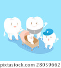 cartoon tooth family 28059662
