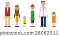 Three generations family vector 28062911