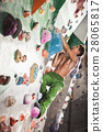 man exercise bouldering and climbing indoor 28065817