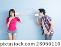 young couple with can phone 28066110