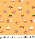 brain cartoon career set pattern background 28066470