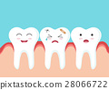 Teeth icon character with red gum 28066722
