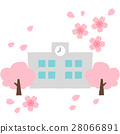 꽃잎, 학교, 벡터 28066891