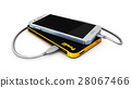 3d Illustration of Powerbank charging smartphone 28067466