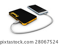 3d Illustration of Powerbank charging smartphone 28067524