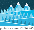 Mountain landscape with Christmas trees. 28067545