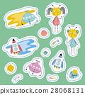sticker cartoon vector 28068131