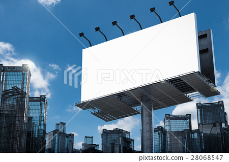 blank billboard with buildings 28068547