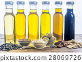 Bottles with different kinds of vegetable oil 28069726