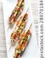 Grilled chicken skewers 28070184