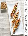 Grilled chicken skewers 28070185