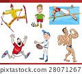 sportsmen cartoon set 28071267