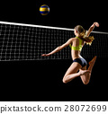 Young woman beach volleyball player 28072699