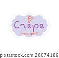 Crepe Logo Design 28074189
