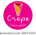Crepe Logo Design 28074203