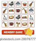 Memory game for children, musical instruments 28076777