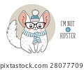 Chinchilla hipster poster 28077709
