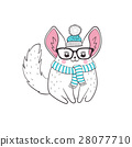 Chinchilla hipster poster 28077710