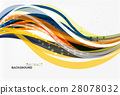 Colorful stripes on light background 28078032