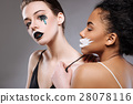 Talented professional models working on conceptual 28078116