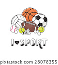 Sport balls collection 28078355