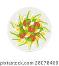 fresh salad isolated 28078409