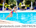 Child in swimming pool on summer vacation 28079026