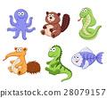 cartoon animals collection 28079157